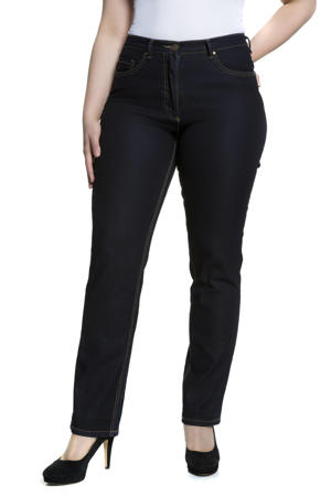 high waist regular fit jeans Mandy dark denim