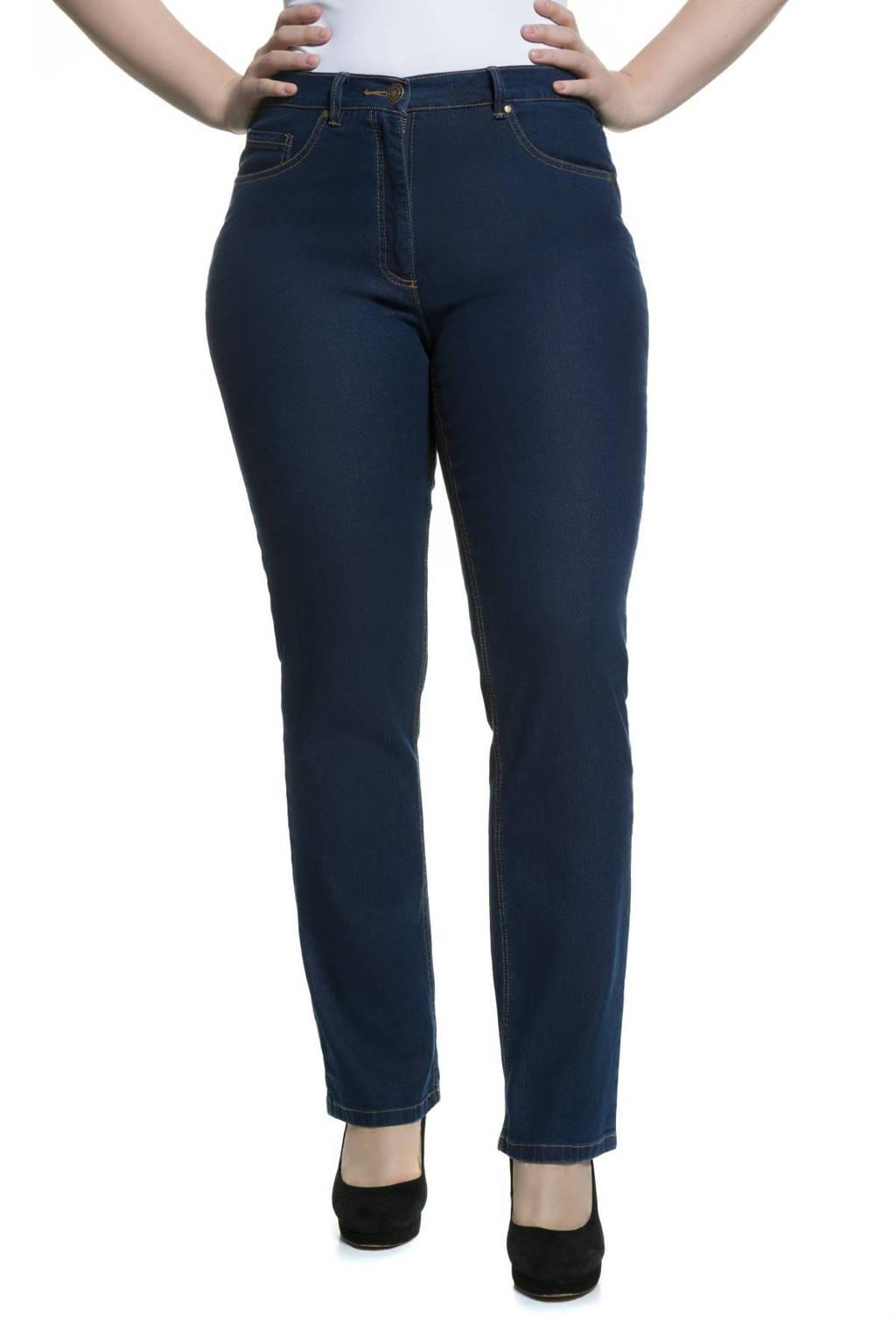 Ulla Popken high waist regular fit jeans Mandy bleached denim, Bleached denim