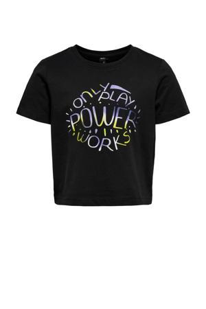 sport T-shirt Paube zwart