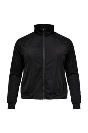 Plus Size sportvest Atifa zwart
