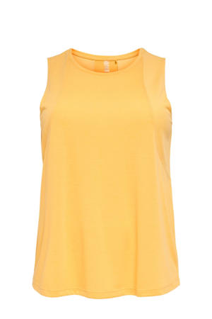 Plus Size sporttop Mee geel