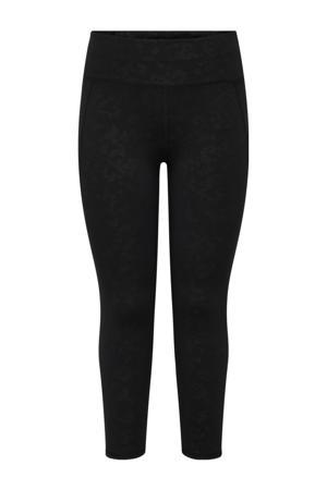Plus Size 7/8 sportlegging Masar zwart