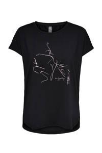 Only Play Curvy Plus Size sport T-shirt Maubree zwart, Zwart