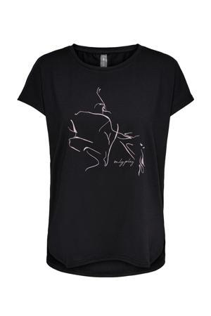 Plus Size sport T-shirt Maubree zwart