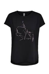ONLY PLAY sport T-shirt Maubree zwart, Zwart