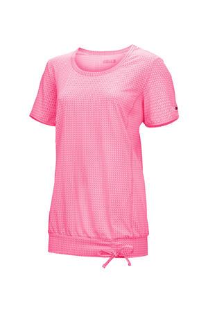 Plus Size sport T-shirt Balana roze
