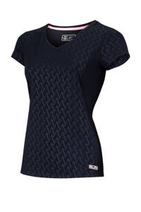 Sjeng Sports Plus Size sport T-shirt Agnella donkerblauw, Donkerblauw