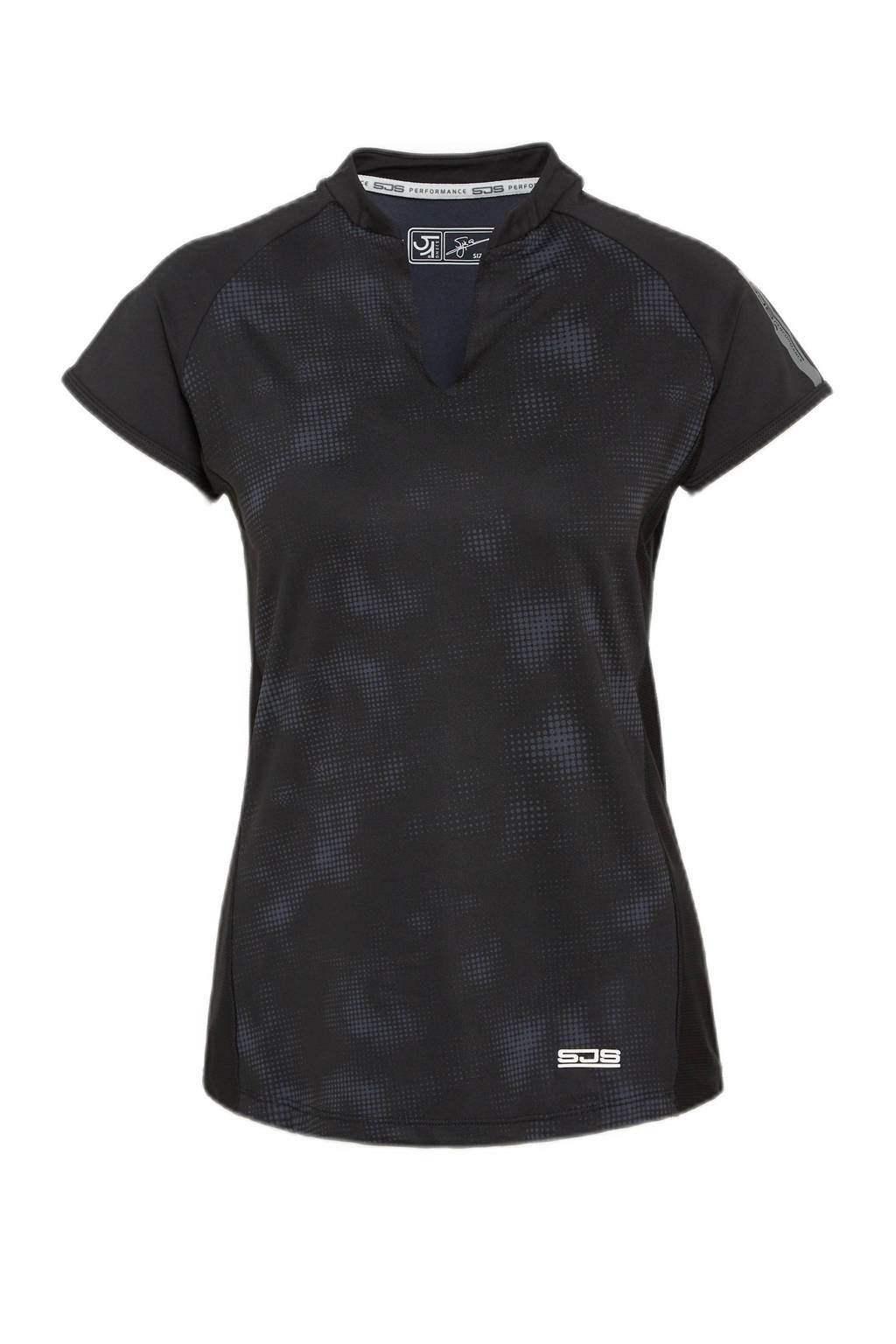 Sjeng Sports sport T-shirt Waverly zwart, Zwart