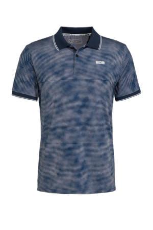 sportpolo Ivo blauw/wit