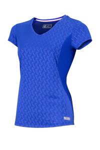 Sjeng Sports Plus Size sport T-shirt Agnella blauw, Blauw