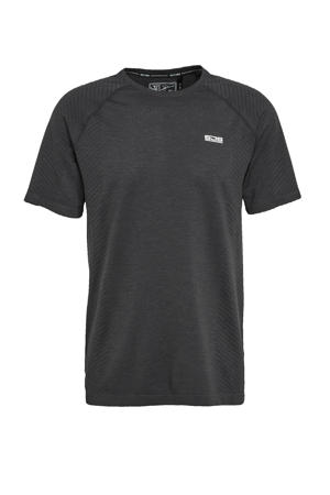 tennisshirt Lester zwart melange