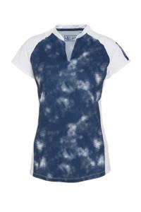 Sjeng Sports sport T-shirt Waverly wit/blauw, Wit/blauw