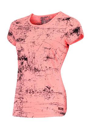 Plus Size sport T-shirt Isabella Plus roze/zwart