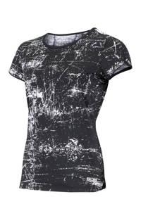 Sjeng Sports sport T-shirt Isabella zwart/wit, Zwart/wit