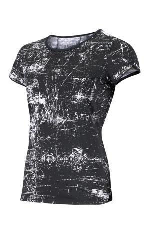 sport T-shirt Isabella zwart/wit