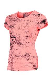 Sjeng Sports sport T-shirt Isabella roze/zwart, Roze/zwart