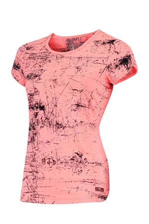 sport T-shirt Isabella roze/zwart