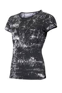 Sjeng Sports Plus Size sport T-shirt Isabella Plus zwart/wit, Zwart/wit