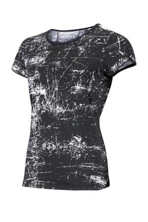Plus Size sport T-shirt Isabella Plus zwart/wit