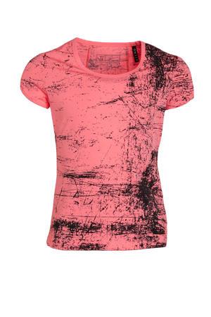 sport T-shirt roze/zwart