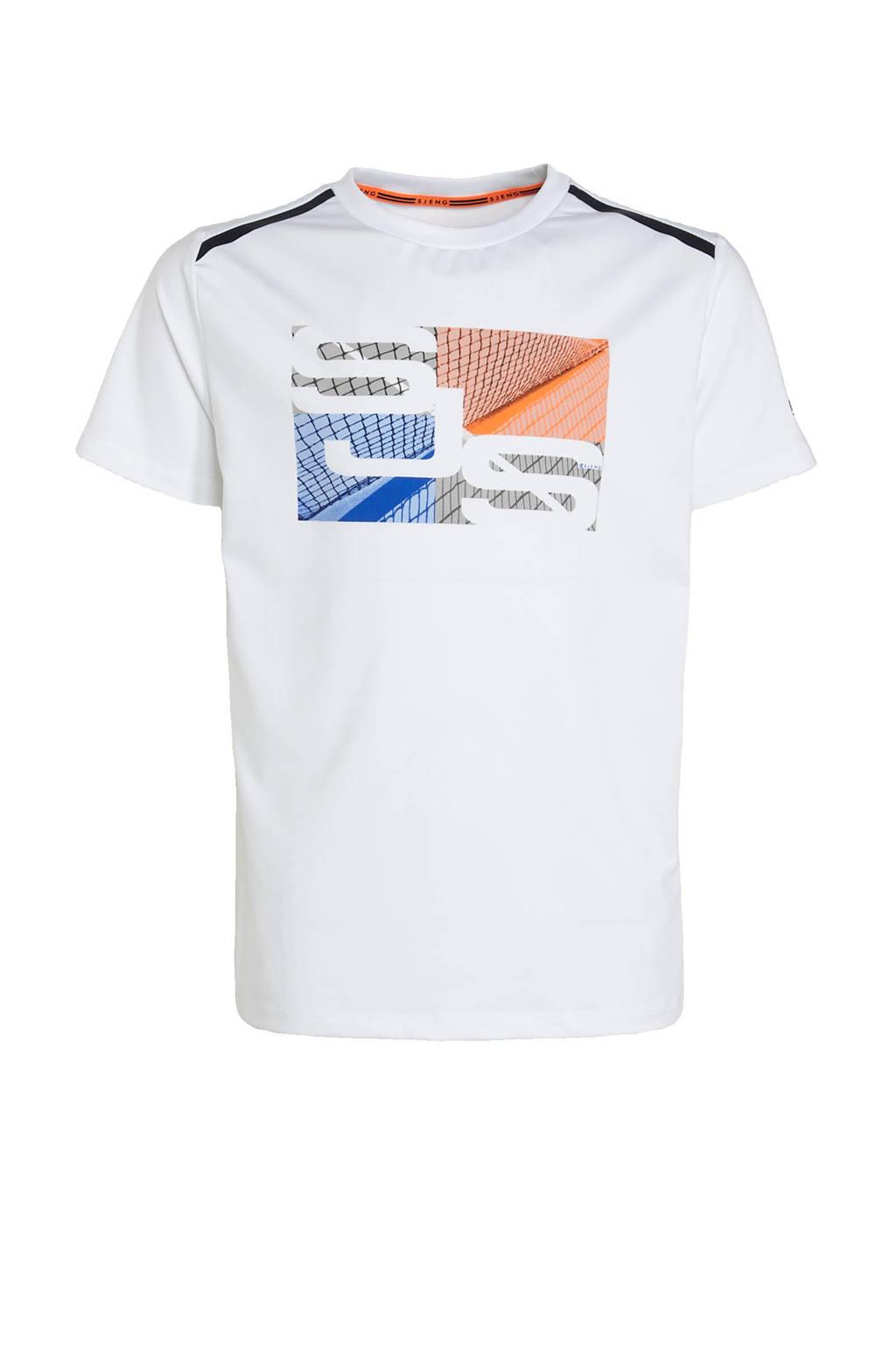 Sjeng Sports   sport T-shirt wit, Wit