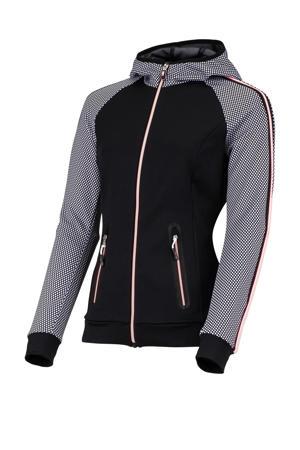Plus Size sportvest Kailies plus zwart/grijs/roze
