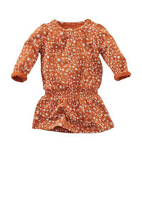 Z8 jurk Honeybee met all over print roestbruin/wit, Roestbruin/wit