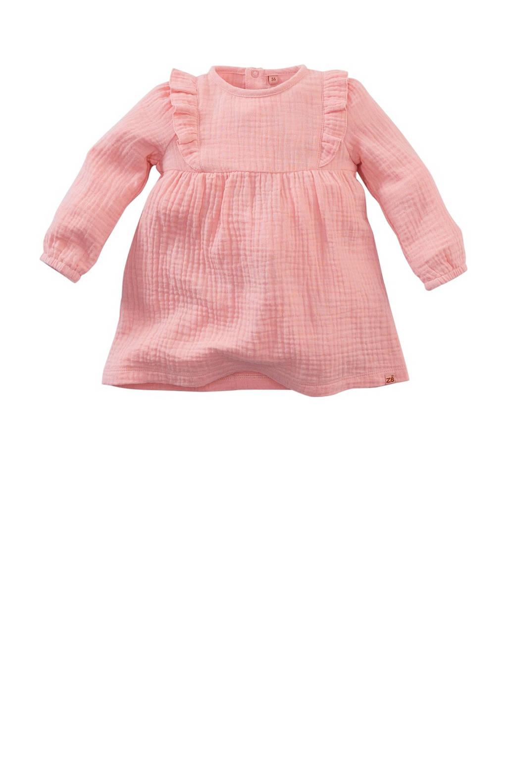 Z8 baby jurk Sandpiper met ruches roze, Roze