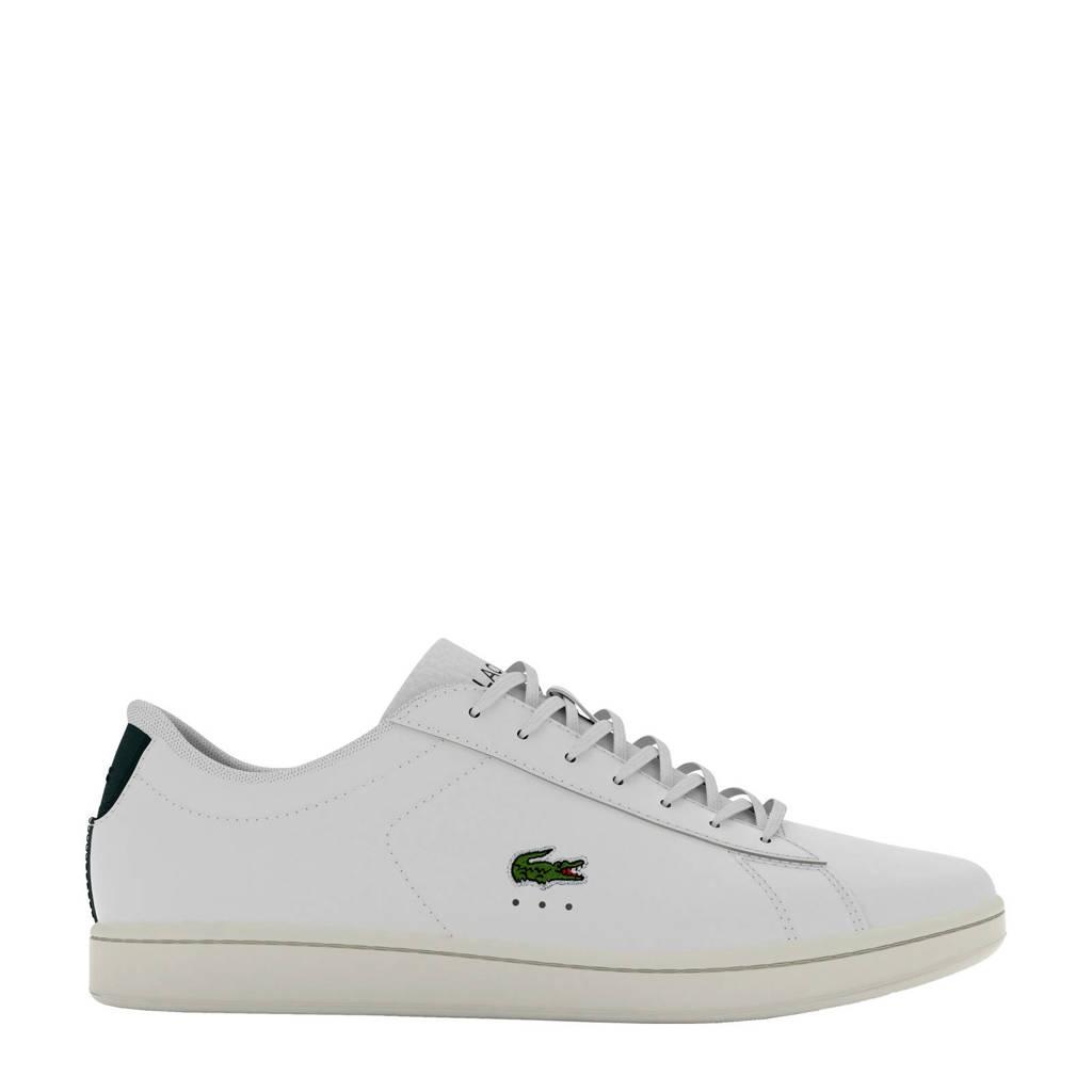 Lacoste Carnaby Evo 0721 sneakers wit/groen, Wit/groen