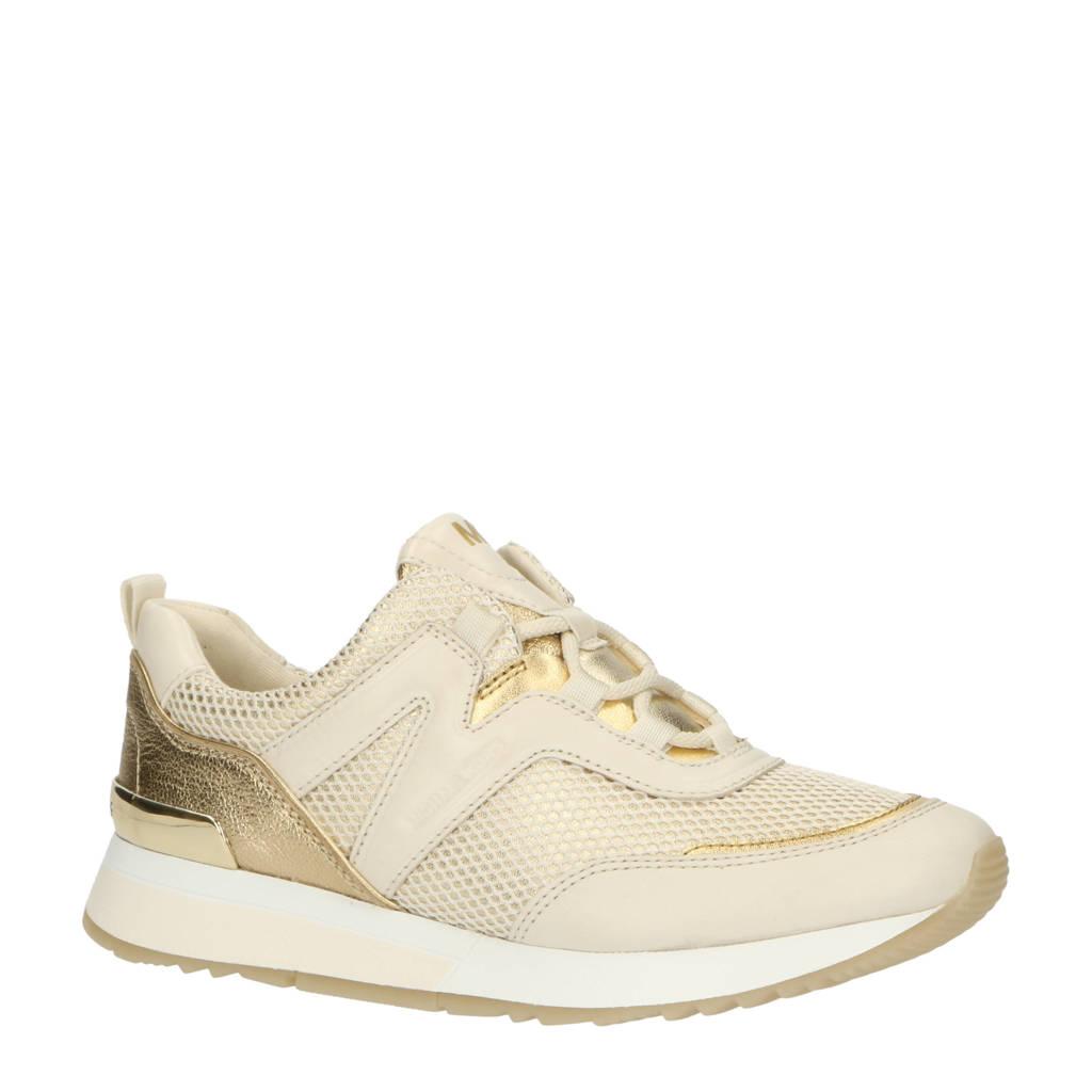 Michael Kors Pippin Trainer  leren sneakers ecru/goud, Ecru/goud