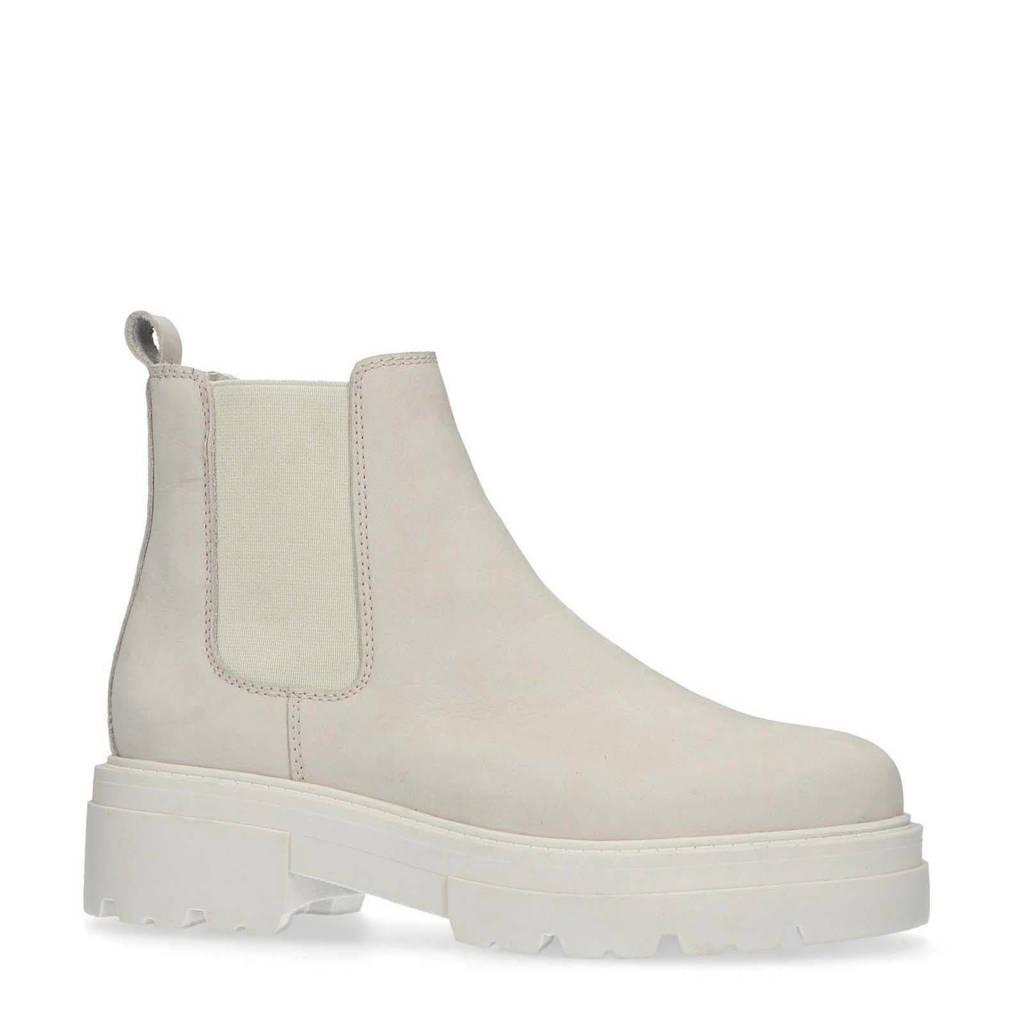 Sacha   nubuck chelsea boots off white, beige/off white