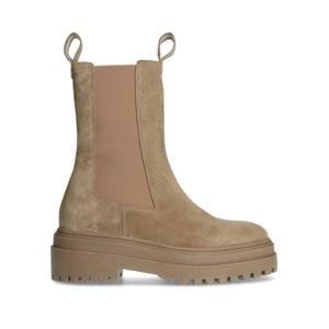 hoge suède chelsea boots bruin