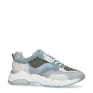 leren chunky sneakers blauw