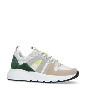 suède sneakers wit/multi