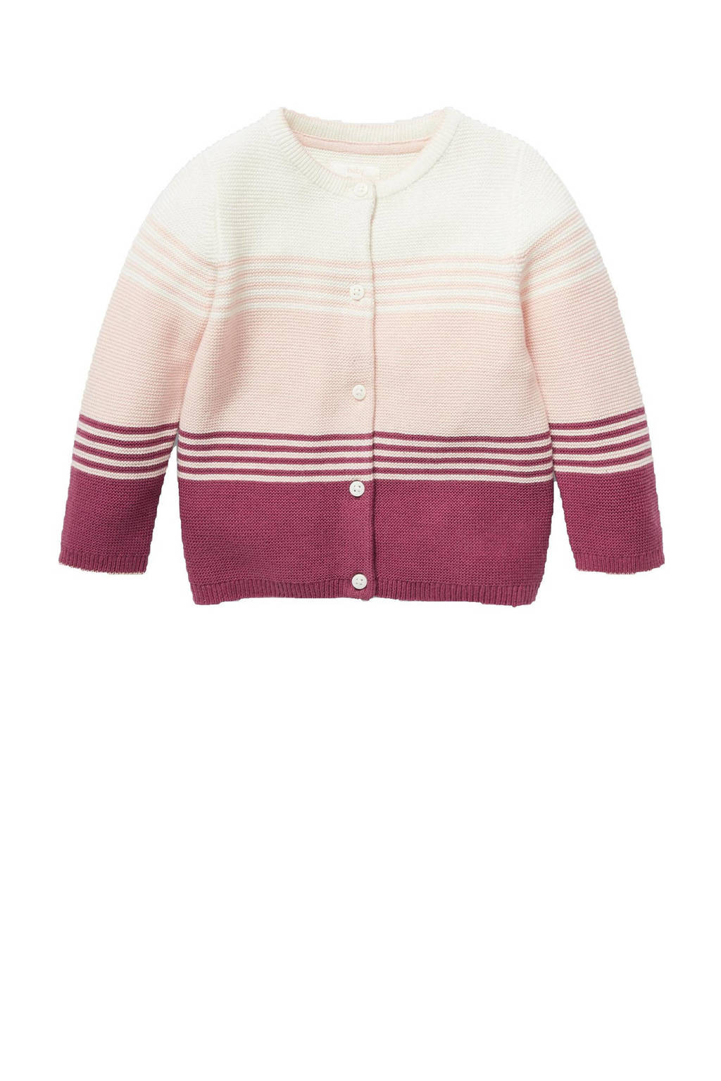 C&A Baby Club vest van biologisch katoen ecru/roze/donkerrood, Ecru/roze/donkerrood
