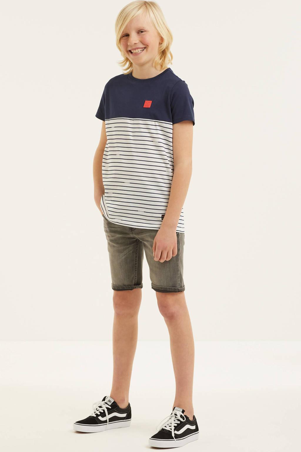 Retour Denim gestreept T-shirt Conrad van biologisch katoen donkerblauw/wit, Donkerblauw/wit