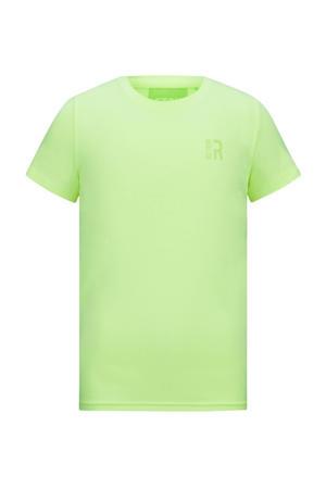 basic T-shirt Corneel neon geel