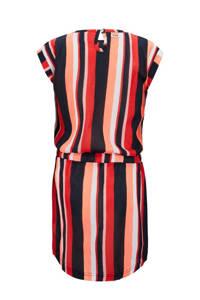 Retour Denim gestreepte jurk Marseille rood/marine/roze, Rood/marine/roze