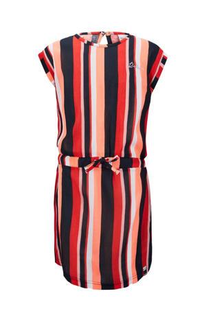 gestreepte jurk Marseille rood/marine/roze