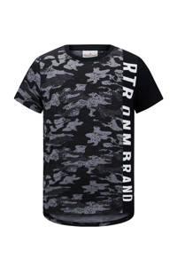 Retour Denim T-shirt Carlito met all over print zwart/grijs/wit, Zwart/grijs/wit