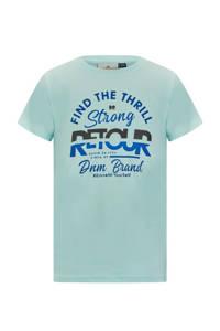 Retour Denim T-shirt Boyd met logo mintgroen, Mintgroen