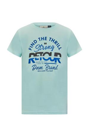 T-shirt Boyd met logo mintgroen