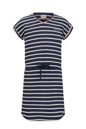 gestreepte jurk Toulouse marine/wit
