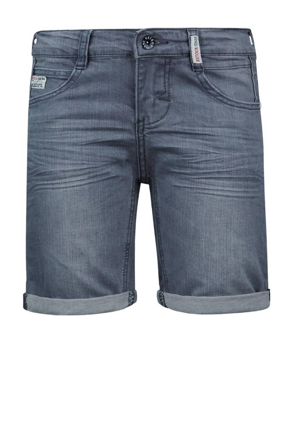 Retour Denim slim fit jeans bermuda Elan light grey denim, Light Grey Denim