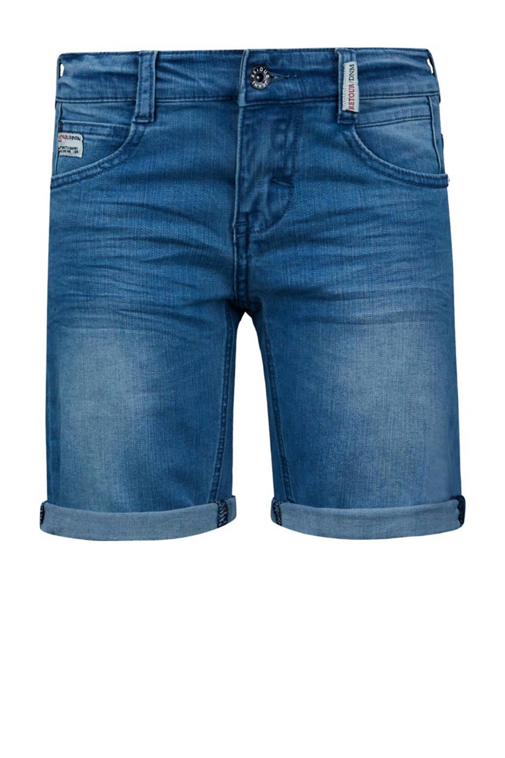 Retour Denim slim fit jeans bermuda Elan light blue denim, Light blue denim