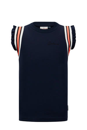 top Cannes met ruches marine/wit/rood