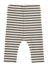 Babyface baby gestreepte regular fit broek ecru/zwart, Ecru/zwart