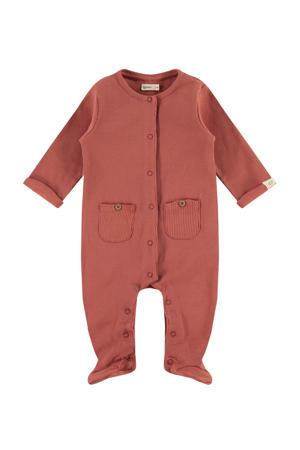 baby ribgebreide boxpak roodbruin