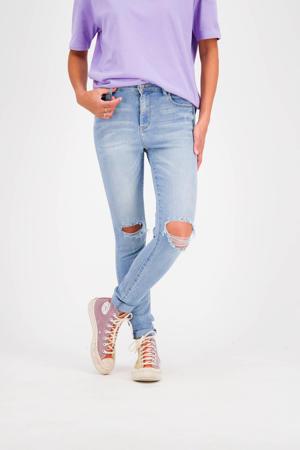 skinny jeans Blossom light blue stone