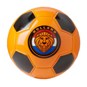 Holland voetbal oranje/zwart maat 5